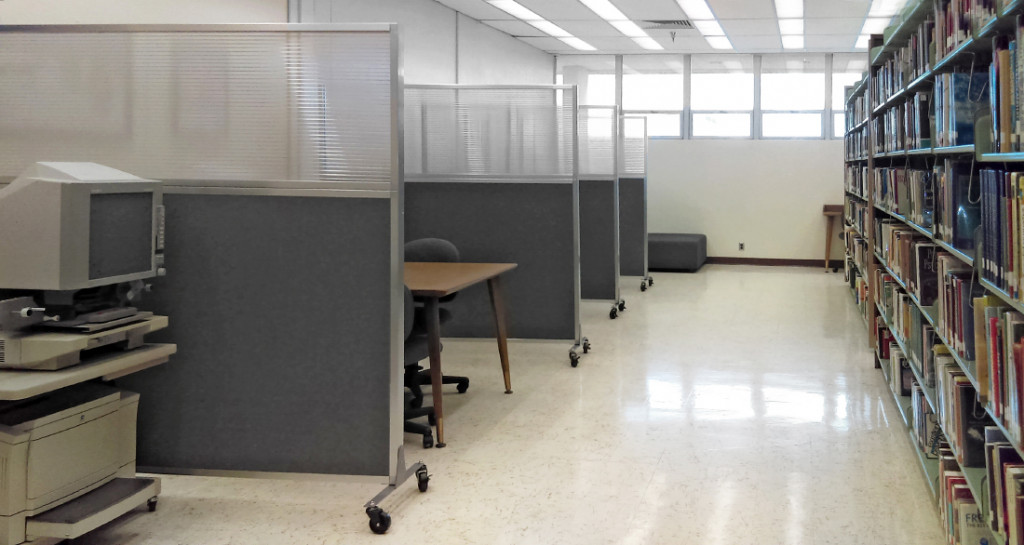 university library partitions
