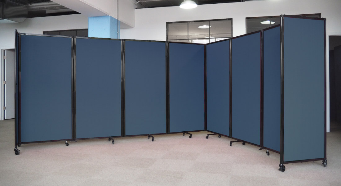 Navy Blue Rolling Wall Partition