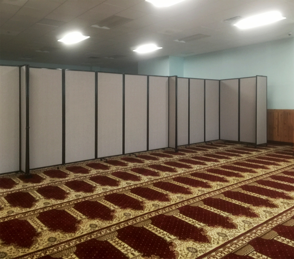 muslim center room partitions