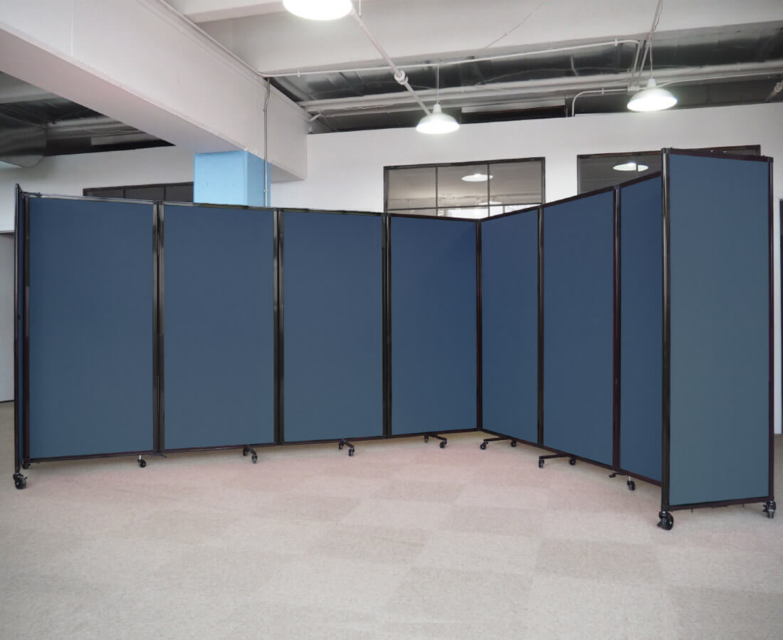 partition room divider blue