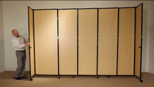 dividers wood grain laminate partition
